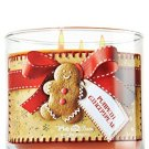 Bath & Body Works Pumpkin Gingerbread Candle 14.5 Oz 3 Wick White Barn
