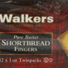 Walkers Shortbread Fingers, (12 x 1 oz Twinpacks), Pack of 2