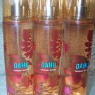 Bath & Body Works Oahu Fine Fragrance Mist Splash Lot of 3 - 8oz X3 Hawaii Colle