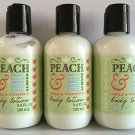 Peach & Honey Almond Travel Size Body Lotion 3.4 Fl Oz Each (Set of Three)