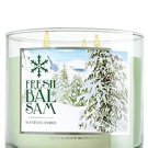 1 X Bath & Body Works Fresh Balsam 3 Wick Candle 2014