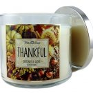 Bath & Body Works Candle 3 Wick 14.5 Oz Thankful Chestnut & Clove 2015 Edition
