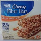 Great Value Chewy Fiber Bars,Oats & Peanut Butter 5 ct-1.4 oz (40 g)