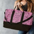 Victoria's Secret Black Pink Monogram Getaway Duffle Bag