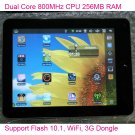 8 Inch Touch Screen VIA8650 800MHz CPU Android 2.2 WiFi Camera Tablet PC