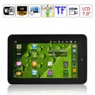 Android 2.2 VIA8650 800MHz RAM 256M 2GB WIFI 3G 7-inch Resistive Touch Screen Tablet PC