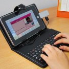 7 Inch Keyboard Case for Android Tablet with Stylus Pen, USB Port