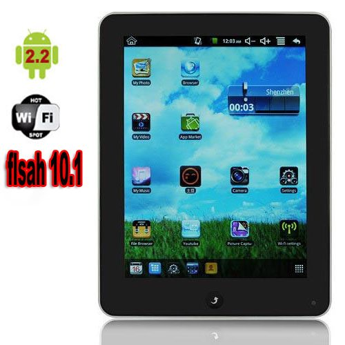 """Pad OEM22: Ultra Thin, 8"""" Touch Screen, Flash, Wifi, 800Mhz CPU, Camera, Android 2.2 Tablet"""