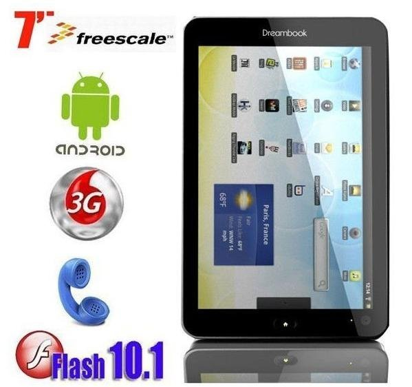 Dreambook W7 Cortex a8 Android 2.2 Capacitive Tablet PC with 3G, WIFI, GPS, Phone Calling