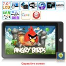 Android 2.3 Cortex-A8 1.2GHz 7-inch Capacitive Touch Screen Tablet PC - TCC8803(Black)