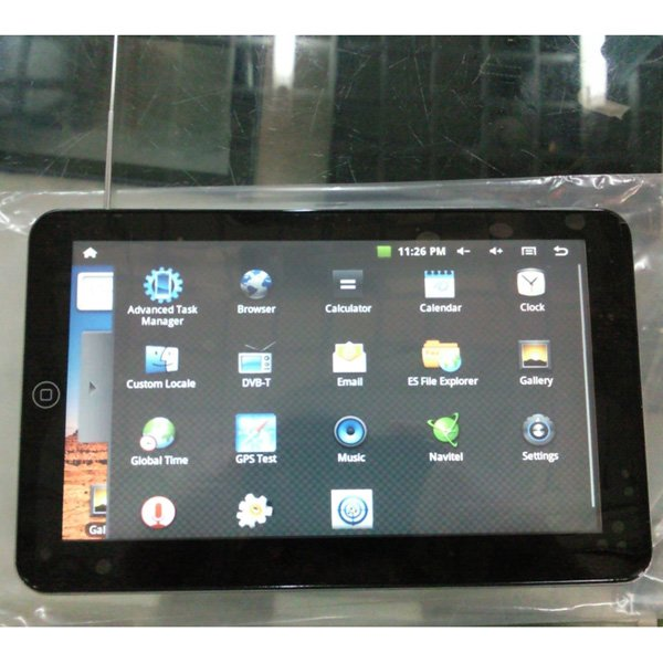 7 Inch Android 2.1 Tablet PC with GPS Navigation System, DVB-T TV + Maps for Europe