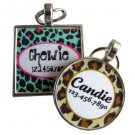 Leopard Print Custom Pet ID Tag