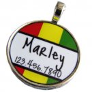 Rasta Stripes ID Tag