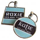 Modern Teal Geometric Pet ID Tag