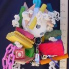 LARGE WIFFLE HODGE PODGE - WOW!  a bird toy parrot toys