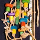LEATHER OCTOPUS WITH WOOD PIECES a bird toy parrot toys