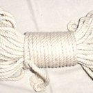 "1/4"" NATURAL COTTON ROPE - 25', a bird toy toys parts"