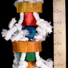 NEW! KNOTTY TOWER w/NATURAL WOOD a bird toy parrot toys