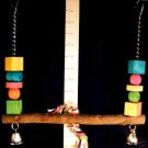 NEW! WOOD SWING SM-MED BIRDS a bird toy parrot toys