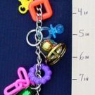COLORFUL JINGLE CHAIN ~ABT~ bird toy parrot toys parts