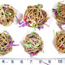 5 MINI STUFFED CRINKLE BALLS Parrot toys parts bird toy