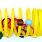 YELLOW SLINK - SPRINGY FUN! a bird toy parrot toys