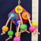 PLEX SQUARE - HARDWOOD BUTTONS! a bird toy parrot toys