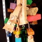 MANZANITA MONSTER HUGE, HARDWOOD BIRD TOY!! parrot toys