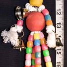 NEW! RAINBOW MAN w/BELLS a bird toy parrot toys parts