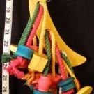 NEW! BANANA WOOD CHEW FUN a bird toy parrot toys