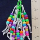 PONY MOP NEON PLASTIC CHAIN TOY  a bird toy parrot toys
