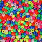 300 NEON PONY BEADS bird toy parts parrot toys