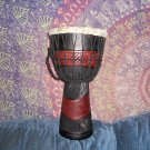 Black and Red Djembe