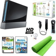 Nintendo Wii Black System HD Ready + Wii Fit Plus, Balance Board