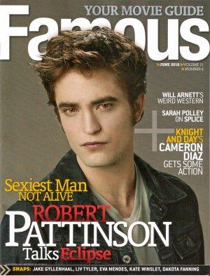 Robert Pattinson Famous June 2010 Volume 11 Number 6