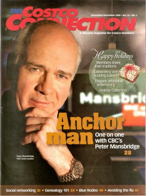 Peter Mansbridge Costco Connection Canadian November December 2009