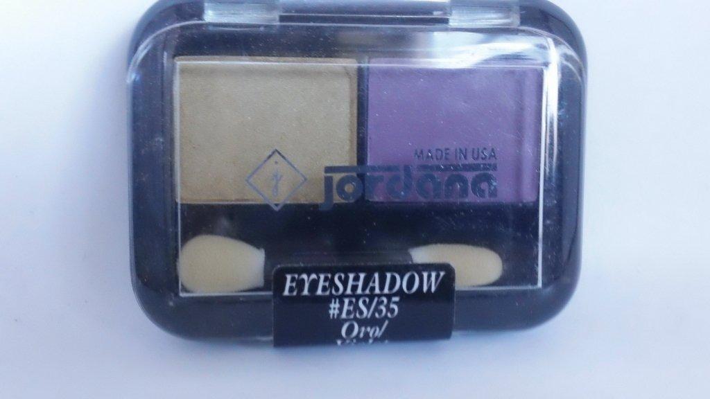 Jordana 2 Color Eyeshadow Duo ES 35 Oro Violet eye shadow