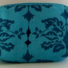Contents by Allegro Cosmetics Makeup Bag case Blue Print Pattern
