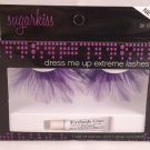 E.L.F. Sugar Kiss Dress Me Up Extreme Lashes ELF False Eye Eyelashes Purple Feathers costume