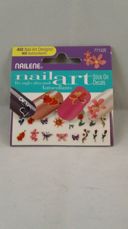 Nailene Nail Art Stickers Decals Designs Spring Flowers Butterflies Hearts