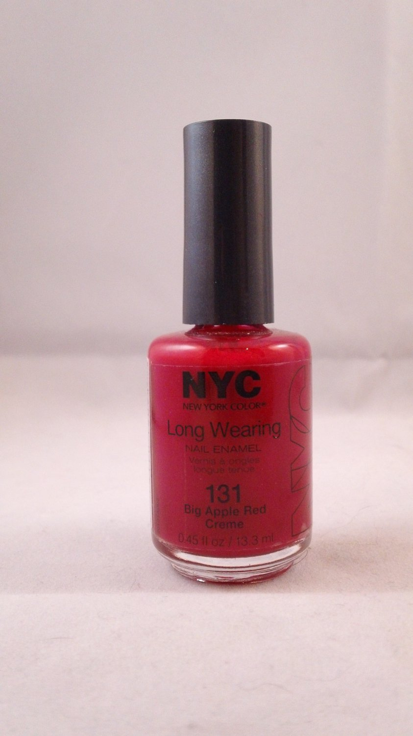 NYC New York Color Long Wearing Nail Enamel Lacquer Polish #131 Big Apple Red Creme