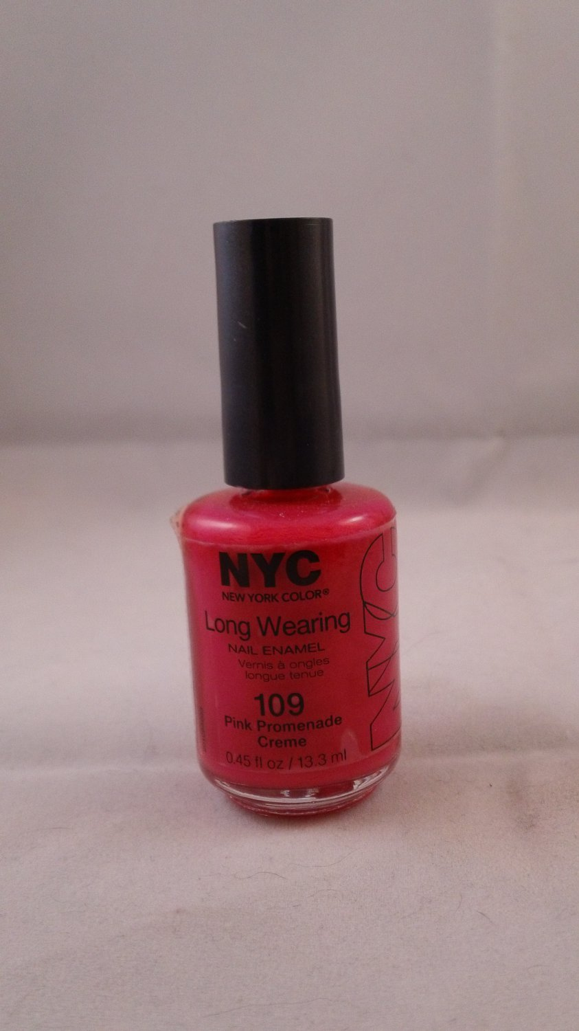 NYC New York Color Long Wearing Nail Enamel Lacquer Polish #109 Pink Promenade Creme