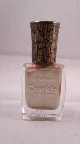 Sally Hansen Crackle Overcoat top coat Nail Color Polish shatter #06 Antiqued Gold