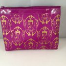 Ipsy MyGlam Glam Bag August 2013 Glamour Academy Purple Gold Cosmetic case purse clutch empty