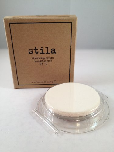 Stila Illuminating Powder Foundation Refill pan with sponge 80 Watts