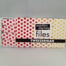 Tweezerman Hot for Dots Matchbox Itty Bitty nail files From Red to Yellow emery boards
