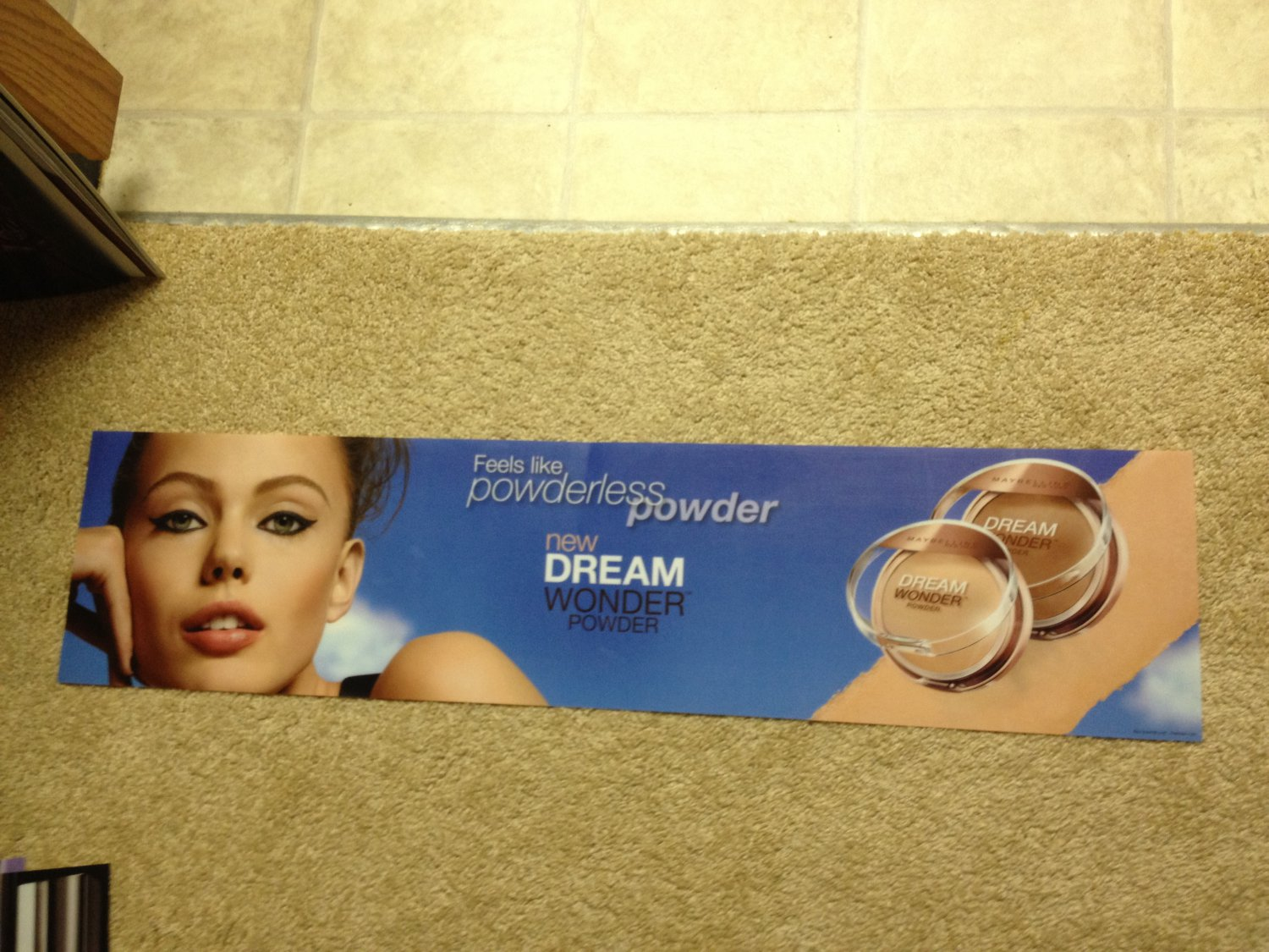 Maybelline Dream Wonder Powder Foundation face Product Display Poster