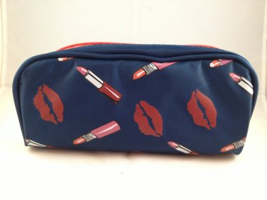 Hautelook Lips Themed Makeup Bag cosmetic case zippered clutch beauty