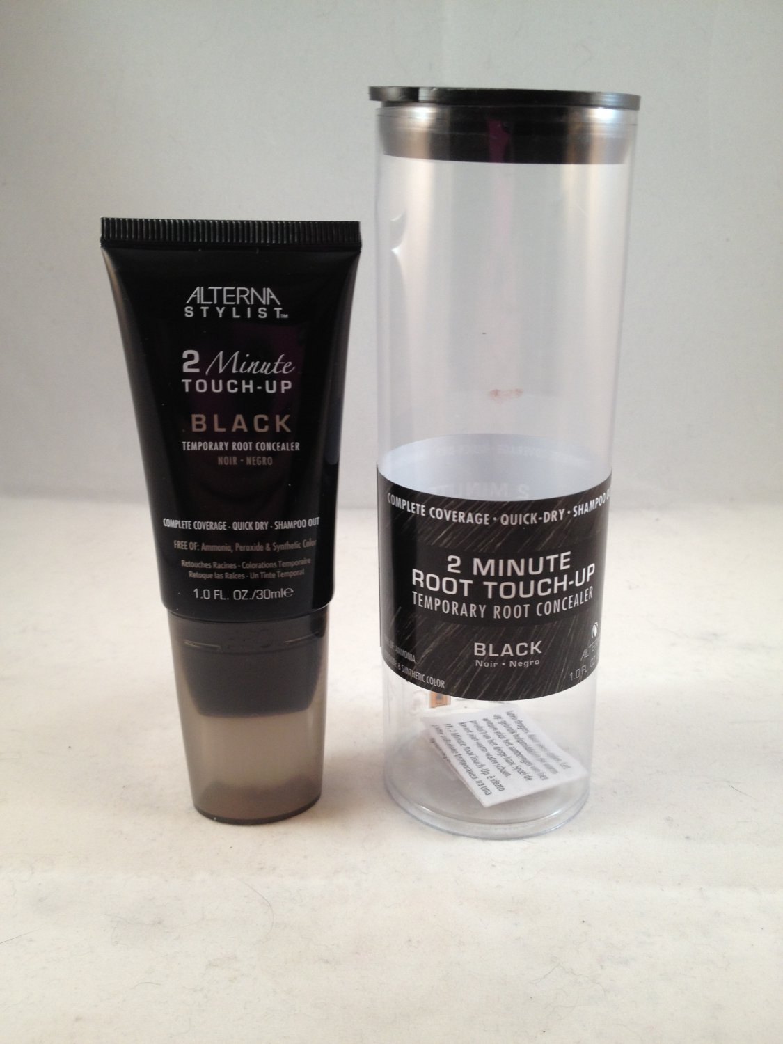 Alterna Stylist 2 Minute Root Touch-Up Black Temporary Root Concealer hair color