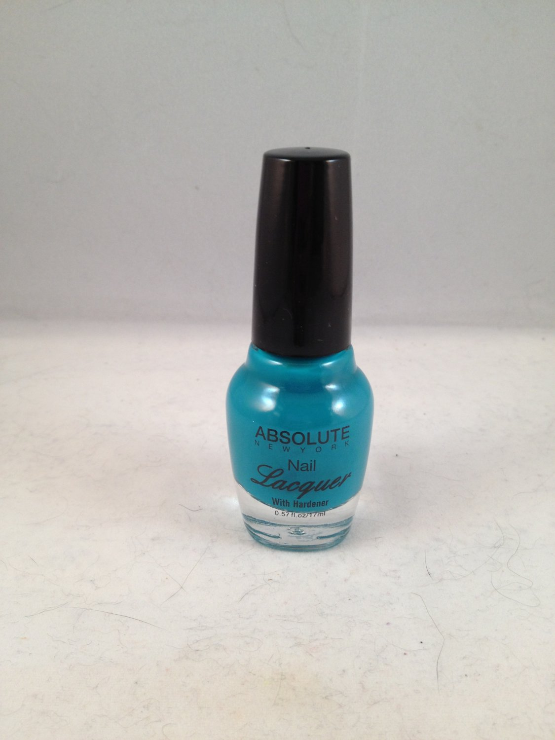 Absolute New York Nail Lacquer with hardener NFB16 Tourquoise color polish turquoise
